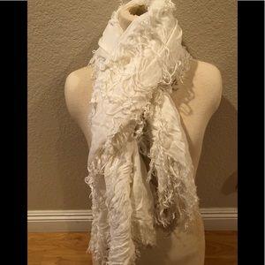 Trendy off white scarf